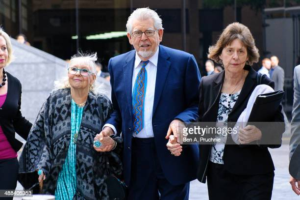 Artist and television personality Rolf Harris arrives at Southwark Crown Court on May 6 2014 in London England Mr Harris who was arrested in March...