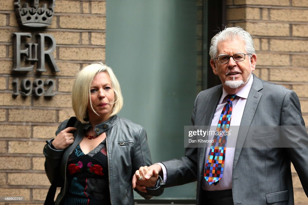 Artist and television personality Rolf Harris arrives with daughter Bindi Harris at Southwark Crown Court on May 9 2014 in London England Mr Harris...