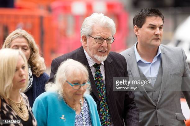 Artist and television personality Rolf Harris arrives with his wife Alwen Hughes at The City of Westminster Magistrates Court on September 23 2013 in...