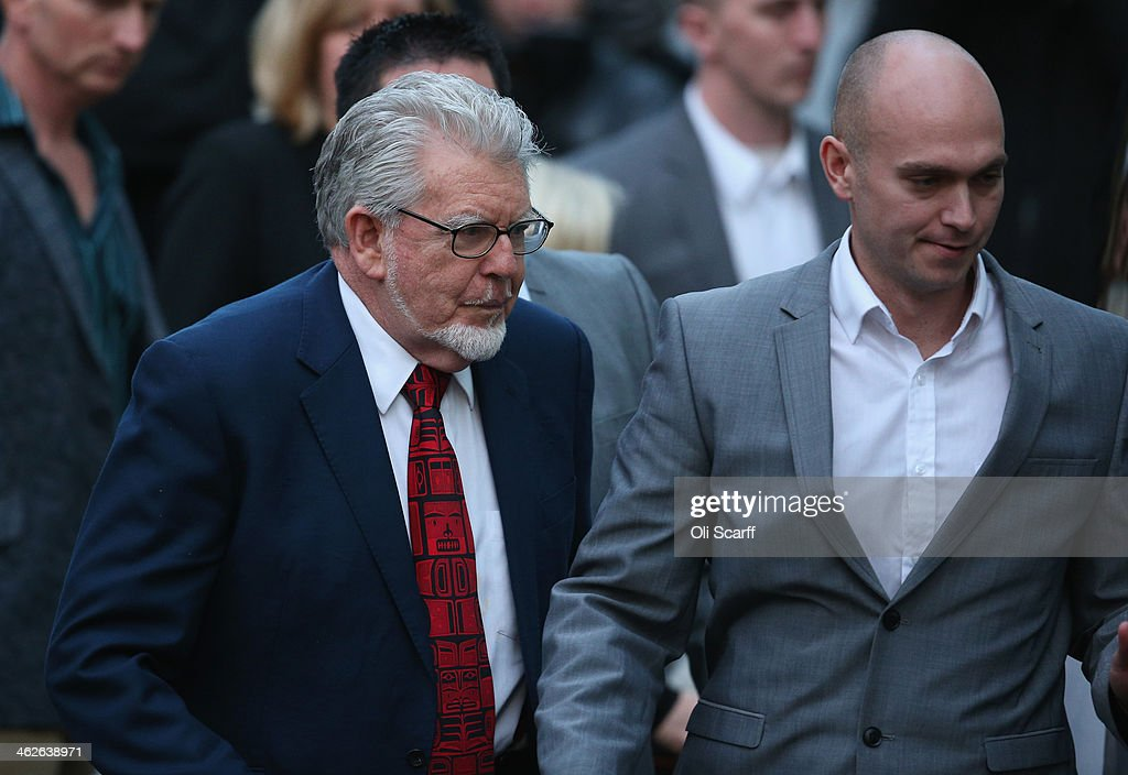 Artist and television personality Rolf Harris leaves Southwark Crown Court on January 14 2014 in London England Mr Harris who was arrested in March...