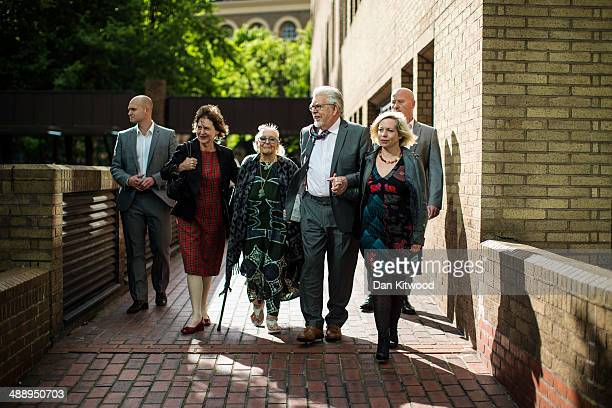 Artist and television personality Rolf Harris leaves Southwark Crown Court on May 9 2014 in London England Mr Harris who was arrested in March 2013...