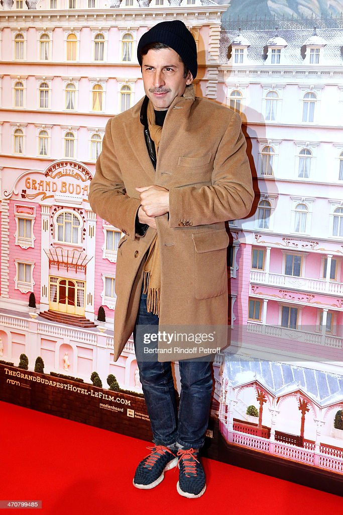Artist Andre Saraiva attends 'The Grand Budapest Hotel' Paris Premiere at Cinema Gaumont Opera Capucines on February 20, 2014 in Paris, France.