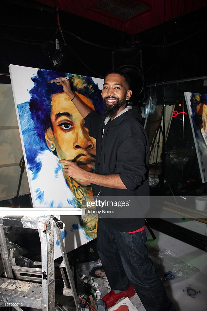 Artist Andre Trenier attends Wiz Khalifa's 'O.N.I.F.C.' Listening Party at The West Way on November 26, 2012 in New York City.