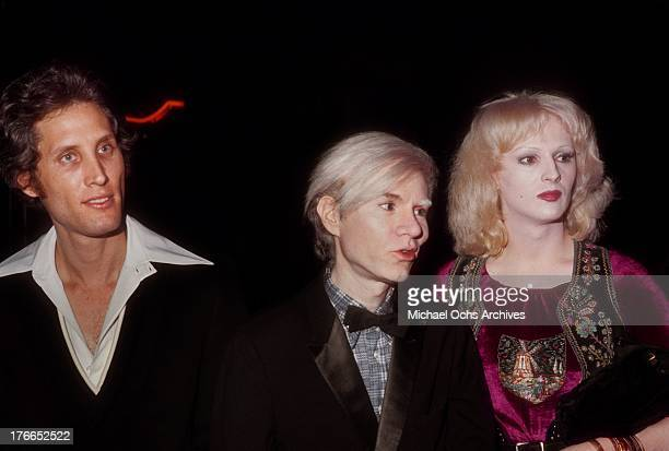 Artist Andy Warhol and transsexual actress Candy Darling attend an event at Grauman's Chinese Theatre in November 1971 in Los Angeles California