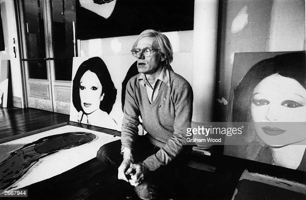 Artist Andy Warhol in New York with his latest work 'Princess Of Iran'