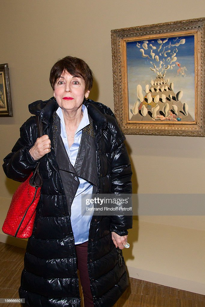 Artist Annette Messager attends Dali Private Exhibition Preview at Centre Pompidou on November 18, 2012 in Paris, France.