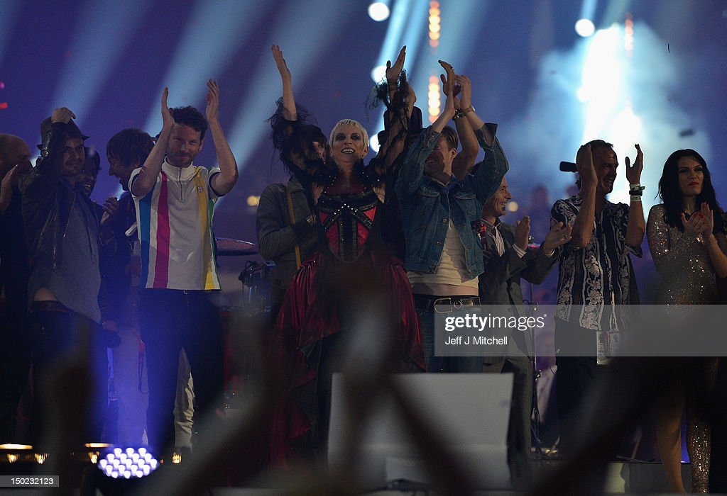 Artist Annie Lennox performs during the Closing Ceremony on Day 16 of the London 2012 Olympic Games at Olympic Stadium on August 12, 2012 in London, England.