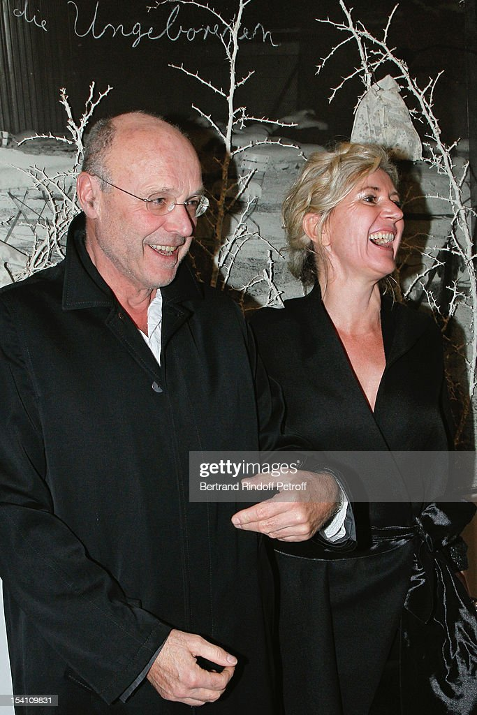 Artist <a gi-track='captionPersonalityLinkClicked' href=/galleries/search?phrase=Anselm+Kiefer&family=editorial&specificpeople=2584151 ng-click='$event.stopPropagation()'>Anselm Kiefer</a> (L) and his companion Renate Graf attend the opening of Thaddaeus Ropac's new gallery on October 13, 2012 in Pantin, France.