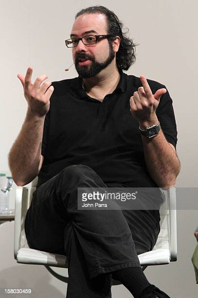 Artist Ari Benjamin Meyers speaks during Conversations at Art Basel Miami Beach 2012 on December 9 2012 in Miami Beach Florida
