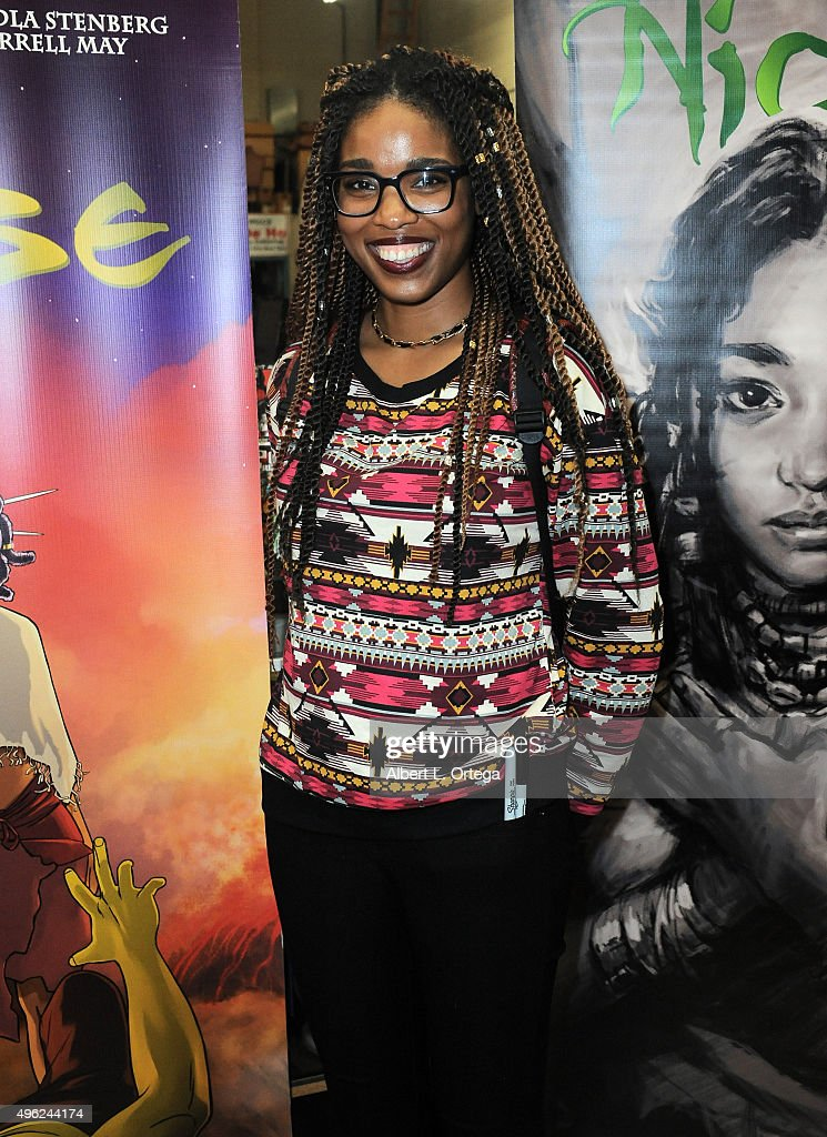 Artist Ashley A Woods at Amandla Stenberg's Launch Party For 'Niobe: She Is Life' held at Hi De Ho Comics And Books on November 7, 2015 in Santa Monica, California.