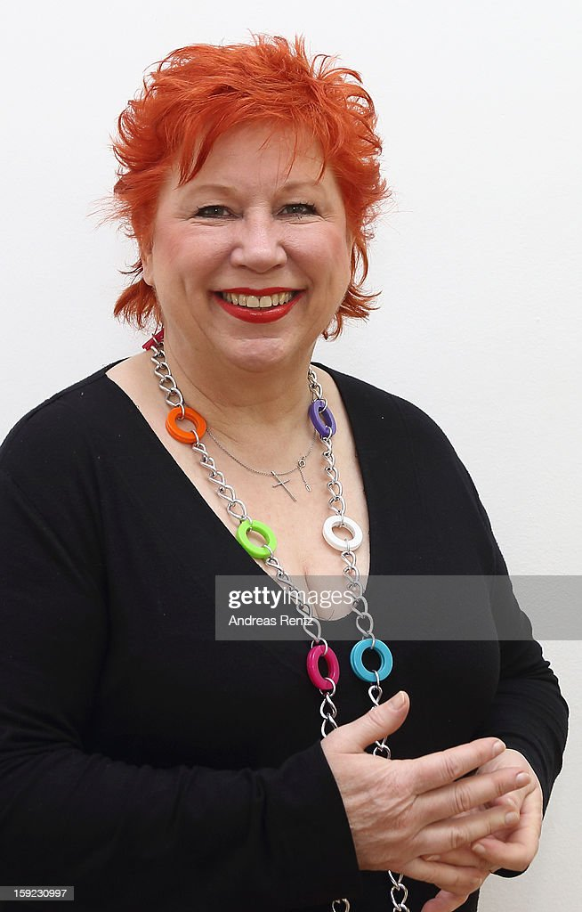 Artist Barbara Salesch poses for a portrait at ROOT gallery on January 10, 2013 in Berlin, Germany. Salesch's exhibition will open January 10 and run through February 3.