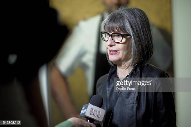 Artist Betina FauvelOgden speaks to the media following the announcement at the Art Gallery of NSW Artist Betina FauvelOgden won the 2016 Packing...