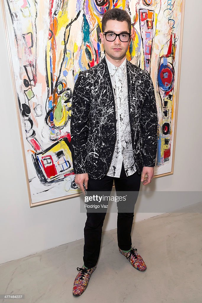 Artist Cameron Helm attends Alexander Yulish 'An Unquiet Mind' VIP Opening Reception at KM Fine Arts LA Studio on March 8, 2014 in Los Angeles, California.