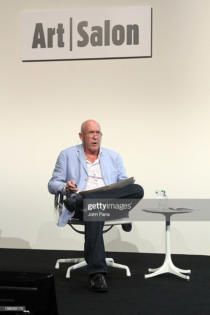 Artist Charles Henri Hine, Director of The Salvador Dali Museum in St. Petersburg, Florida, speaks during Art Salon at Art Basel Miami Beach 2012 at the Miami Beach Convention Center on December 9, 2012 in Miami Beach, Florida.