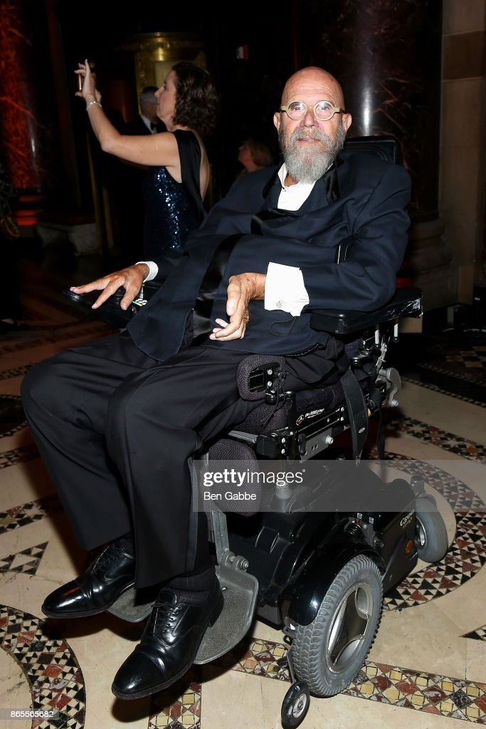 Artist Chuck Close attends the National Arts Awards at Cipriani 42nd Street on October 23, 2017 in New York City.