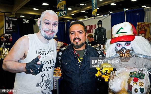Artist Cig Neutron director Steven Ayromlooi and artist Rannie Rodil on day 1 of ComicCon International 2016 at San Diego Convention Center on July...