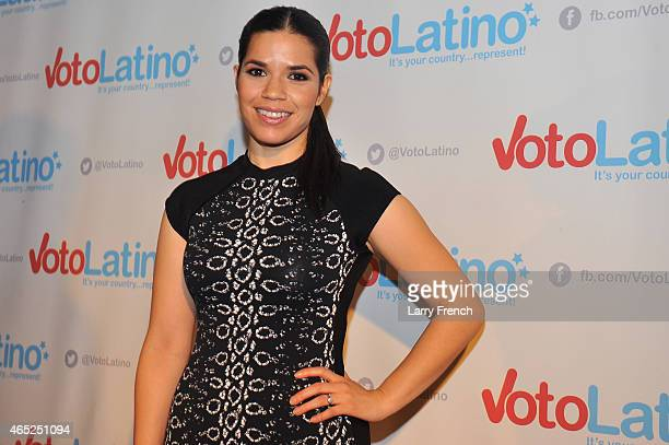Artist Coalition CoChair America Ferrera attends Voto Latino's 10th Anniversary Celebration at Hamilton Live on March 4 2015 in Washington DC