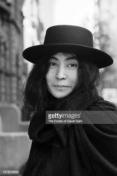 Artist composer and singer Yoko Ono poses for a portrait on November 11 1974 in New York City New York