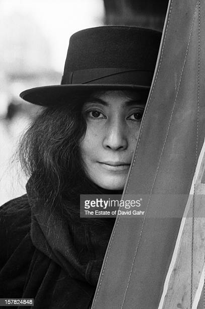 Artist composer and singer Yoko Ono poses for a portrait on November 11 1974 in Central Park New York City New York