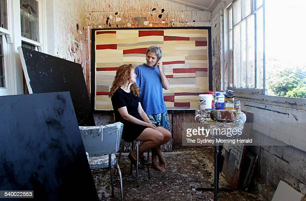 Artist couple Susan O'Doherty and Peter O'Doherty in their studio at their Coogee home 24 February 2006 SMH DOMAIN Picture by DOMINO POSTIGLIONE