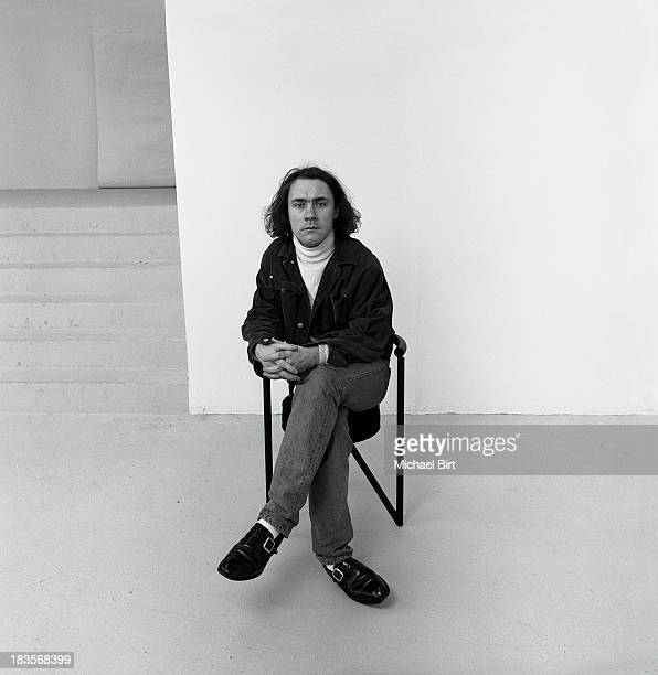 Artist Damien Hirst is photographed at the Saatchi Gallery on September 23 1992 in London England