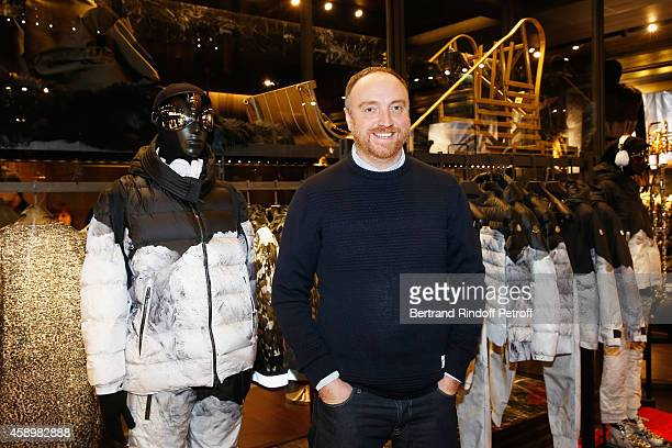 Artist Dan Holdsworth poses during a cocktail party hosted by Moncler Paris in honor of the new Moncler Blackout Collection by Dan Holdsworth on...