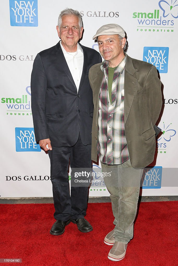 Artist Dan McCleary and actor Tony Abatemarco attend 'A Night of Wonders' at Dos Gallos Antiques on June 6 2013 in Los Angeles California