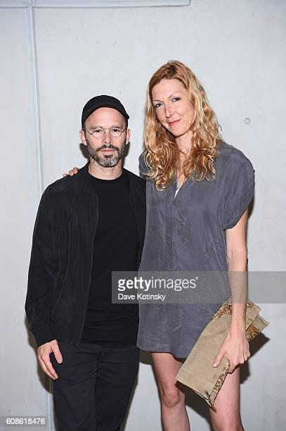 Artist Daniel Arsham and Film Director Megan Raney Erins attends the Daniel Arsham 'Colorblind Artist In Full Color' at Spring Place on September 19...
