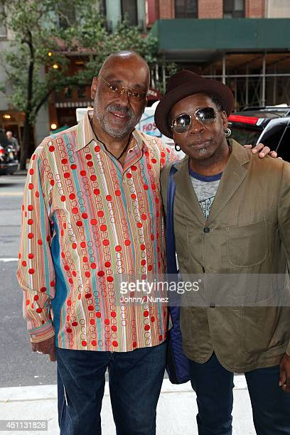 Artist Danny Simmons and guitarist Vernon Reid attend Spike Lee's 'Da Sweet Blood Of Jesus' cast and crew special screening at DGA Theater on June 23...