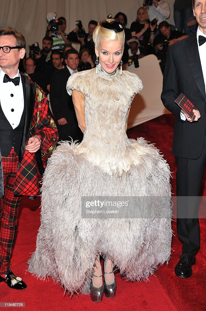 Artist Daphne Guinness attends the 'Alexander McQueen: Savage Beauty' Costume Institute Gala at The Metropolitan Museum of Art on May 2, 2011 in New York City.