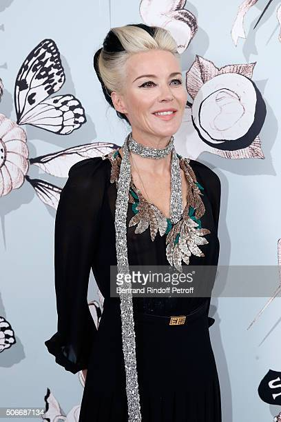 Artist Daphne Guinness attends the Schiaparelli Haute Couture Spring Summer 2016 show as part of Paris Fashion Week on January 25 2016 in Paris France
