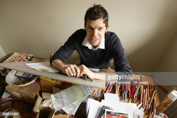 Artist Darren Baker in his studio in Huddersfield In the runup to the London 2012 Games Baker the Professional Footballers' Association official...