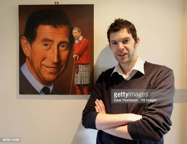 Artist Darren Baker with his painting of the Prince of Wales in his studio in Huddersfield In the runup to the London 2012 Games Baker the...