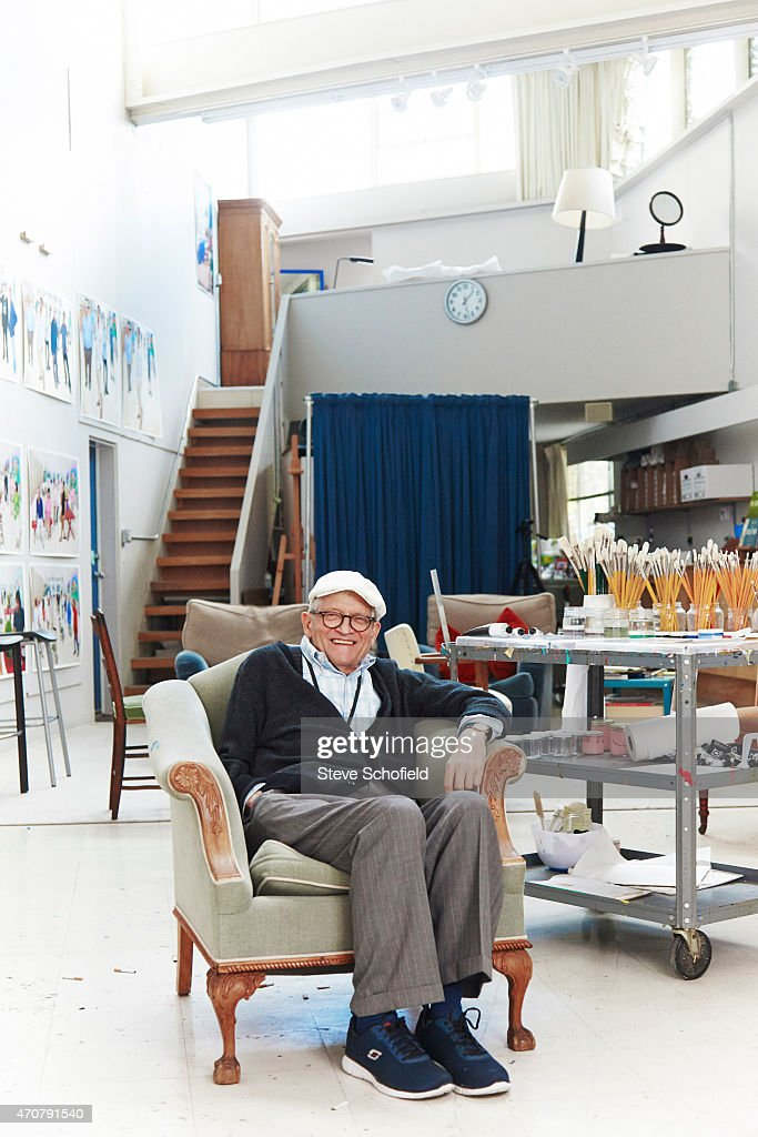 Artist <a gi-track='captionPersonalityLinkClicked' href=/galleries/search?phrase=David+Hockney&family=editorial&specificpeople=215305 ng-click='$event.stopPropagation()'>David Hockney</a> is photographed for the Observer on October 28, 2014 in Los Angeles, California.