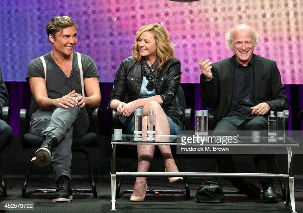 Artist David LaChapelle actress Kim Cattrall and filmmaker/photographer Timothy GreenfieldSanders speak onstage during the AMERICAN MASTERS 'The...