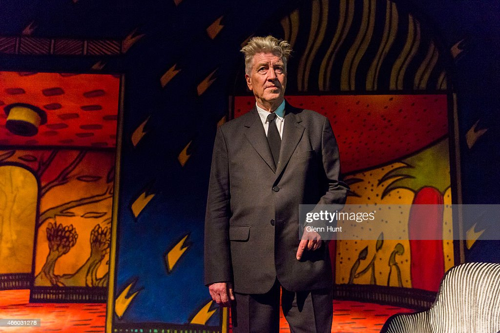 Artist David Lynch at the opening of his exhibition: Between Two Worlds at Gallery of Modern Art (GOMA) on March 13, 2015 in Brisbane, Australia. Lynch is the director of such movies as 'The Elephant Man', 'Blue Velvet', 'Mulholland Drive' and the TV series 'Twin Peaks.'