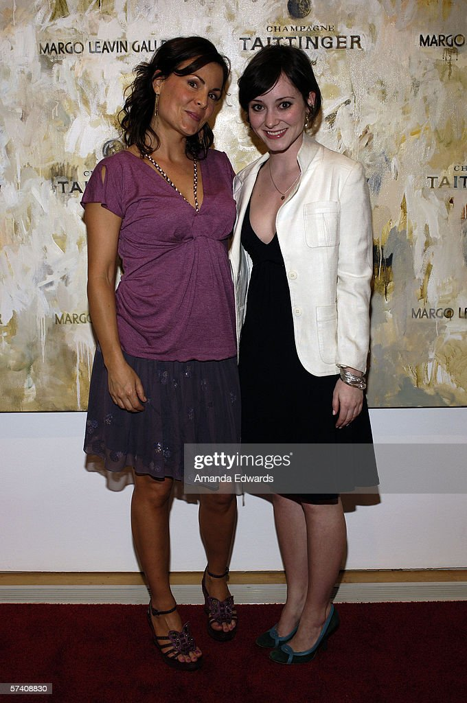 Artist Delia Brown and actress Hollis Witherspoon attend the opening of Brown's 'Double Self-Portraits And Step & Repeat' exhibition at the Margo Leavin Gallery on April 20, 2006 in West Hollywood, California.