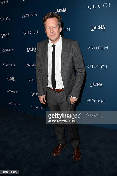 Artist Doug Aitken attends the LACMA 2013 Art Film Gala honoring Martin Scorsese and David Hockney presented by Gucci at LACMA on November 2 2013 in...