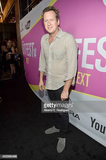 Artist Doug Aitken attends the screening of 'Life After Beth' with Father John Misty in concert during Sundance NEXT FEST at The Theatre at Ace Hotel...