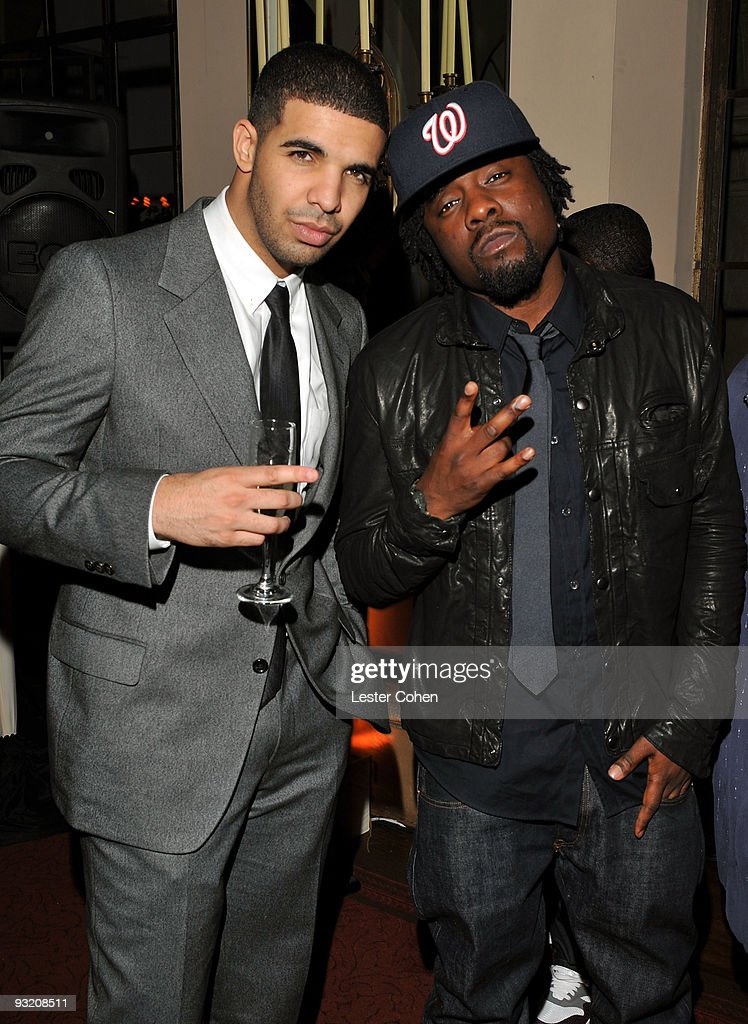 Artist Drake and rapper Wale attend the GQ 'Men Of The Year' party held at Chateau Marmont on November 18 2009 in Hollywood California