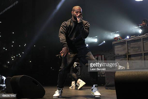 Artist Drake performed at the REAL 923's 'The Real Show' at The Forum on November 8 2015 in Inglewood California