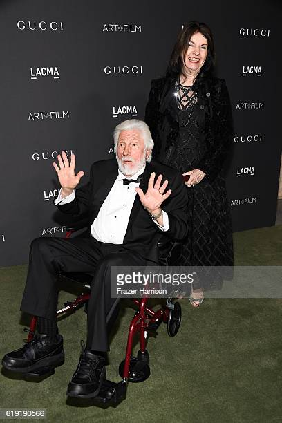 Artist Ed Moses and Avilda Moses attend the 2016 LACMA Art Film Gala honoring Robert Irwin and Kathryn Bigelow presented by Gucci at LACMA on October...