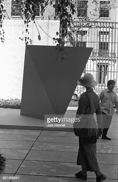 Artist Ellsworth Kelly's Retrospective at the Museum of Modern Art in NYC 1973