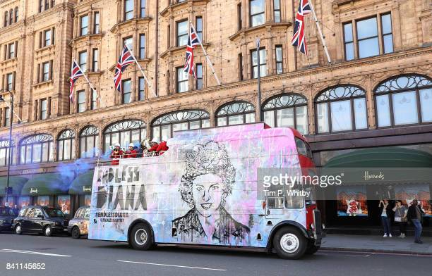 Artist Endless pays tribute to Princess Diana on the 20 year anniversary of her death by with a specially designed vintage Routemaster bus and...