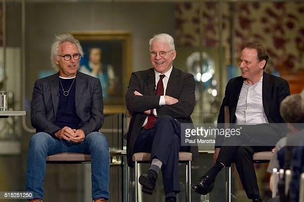 11 Artist Eric Fischl Guest Curator Steve Martin and New Yorker columnist Adam Gopnik speak at MFABoston about works by Canadian artist painter...