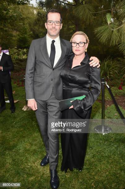 Artist Eric White and Actor Patricia Arquette at the 16th Annual Chrysalis Butterfly Ball on June 3 2017 in Los Angeles California