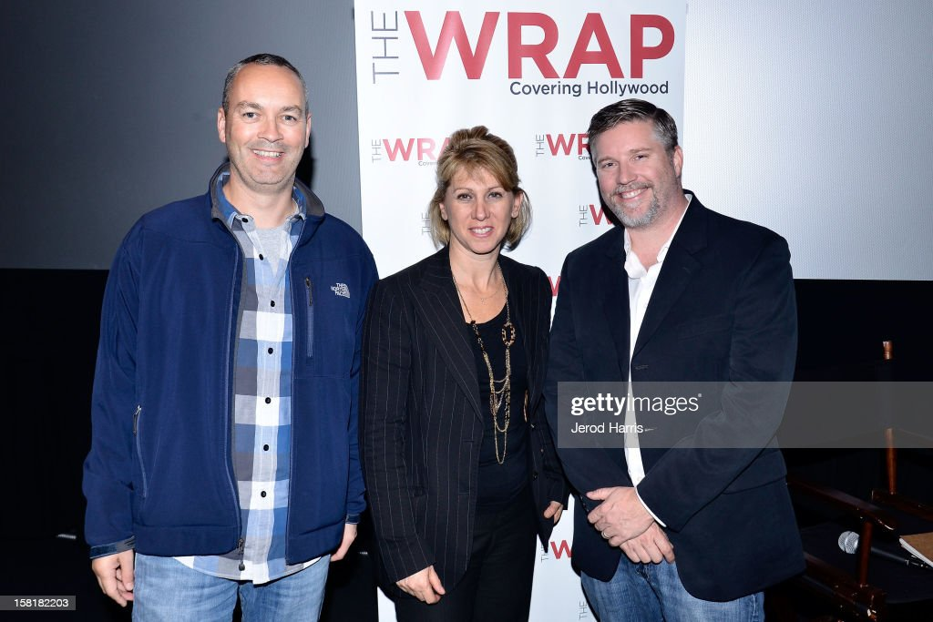 VFX artist Erik de Boer, TheWrap's <a gi-track='captionPersonalityLinkClicked' href=/galleries/search?phrase=Sharon+Waxman&family=editorial&specificpeople=233500 ng-click='$event.stopPropagation()'>Sharon Waxman</a> and VFX supervisor <a gi-track='captionPersonalityLinkClicked' href=/galleries/search?phrase=Bill+Westenhofer&family=editorial&specificpeople=4878392 ng-click='$event.stopPropagation()'>Bill Westenhofer</a> attend TheWrap's Awards Season Screening Series of 'Life Of Pi' on December 10, 2012 in Los Angeles, California.
