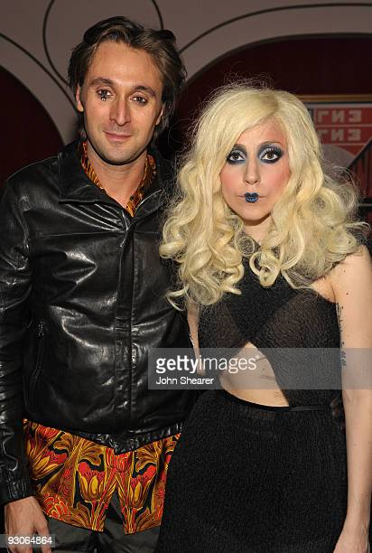 Artist Francesco Vezzoli and musician Lady Gaga during the MOCA NEW 30th anniversary gala held at MOCA on November 14 2009 in Los Angeles California