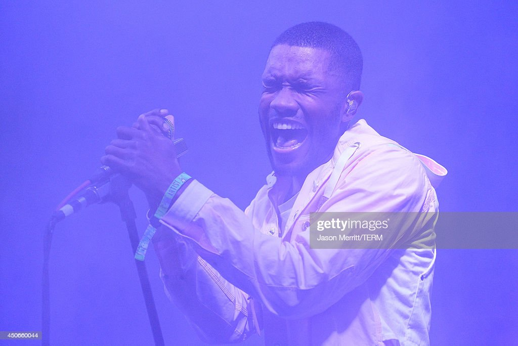 Artist <a gi-track='captionPersonalityLinkClicked' href=/galleries/search?phrase=Frank+Ocean&family=editorial&specificpeople=7657747 ng-click='$event.stopPropagation()'>Frank Ocean</a> performs during the 2014 Bonnaroo Music & Arts Festival on June 14, 2014 in Manchester, Tennessee.