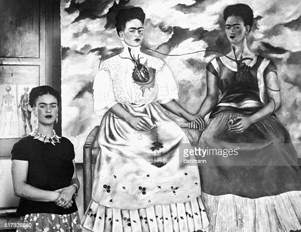 Artist Frida Rivera Three Times Spectacular sample of the distinctive art of Frida Kahlo Rivera who has recently entered into a joint divorce...